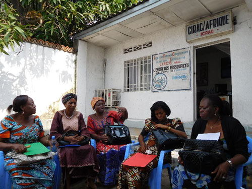 Women's group in Kinshasha