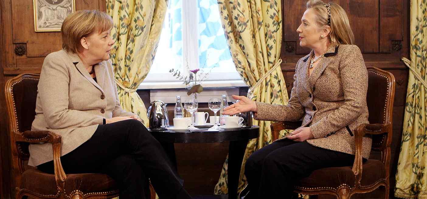 Glass Ceilings Broken by Clinton and Merkel