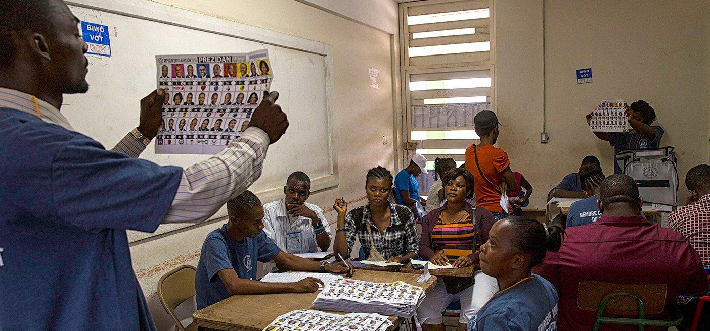 Ballots counted in Haiti
