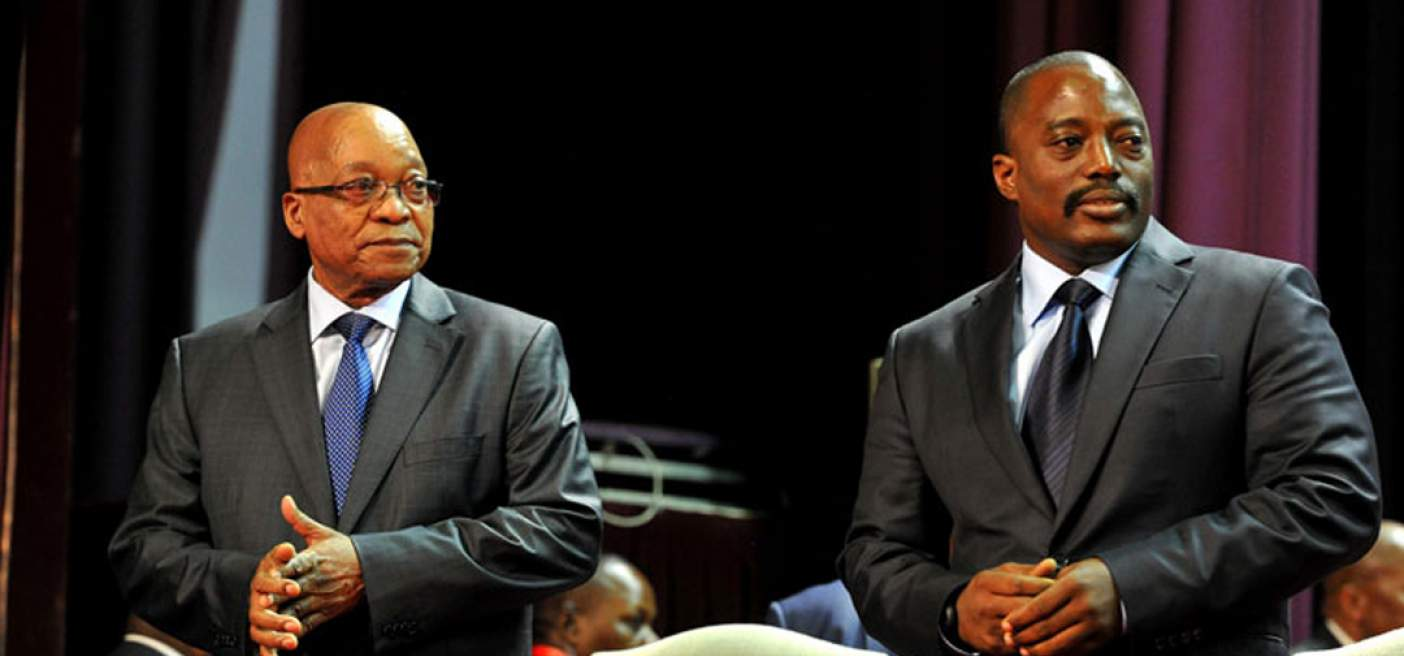 President Jacob Zuma with Congolese President Joseph Kabila at the People's Palace in Kinshasa. (Photo: GCIS)