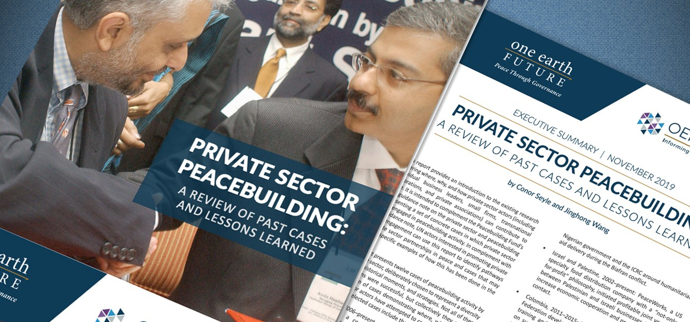 private sector peacebuilding case studies and lessons learned
