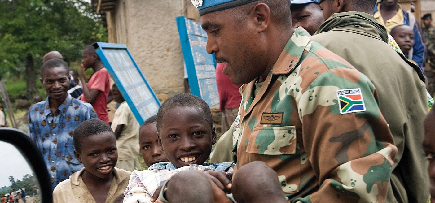 United Nations Peacekeeper in Africa