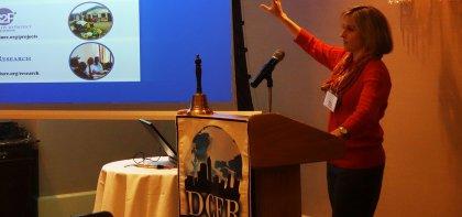 Lindsay Heger speaks on need for data for peace