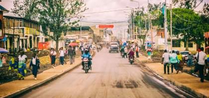 Driving Through Goma
