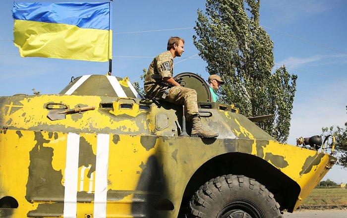 Ukrainian soldier after ceasefire