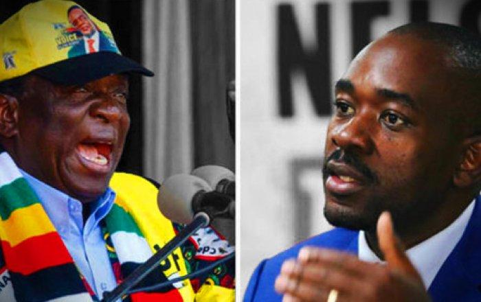 Emmerson Mnangagwa and Nelson Chamisa Zimbabwe presidential election