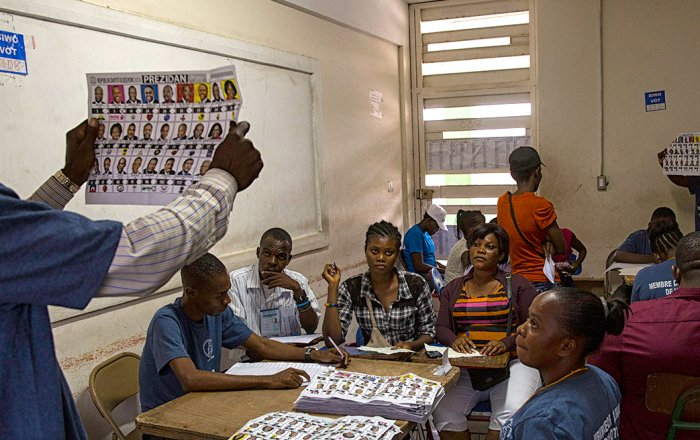 Ballots counted in Haiti