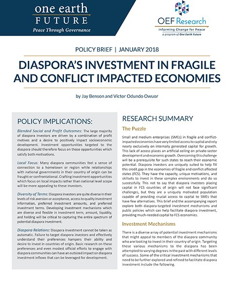 policy brief diaspora investment fragile states