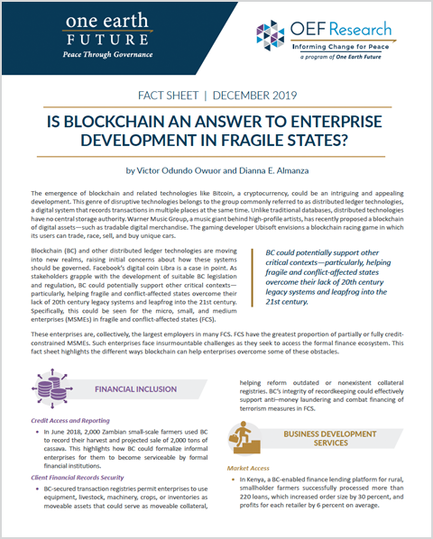 Block Chain Helping Governments in Fragile States