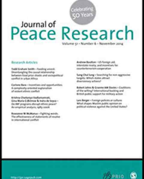 L. Heger in Journal of Peace Research