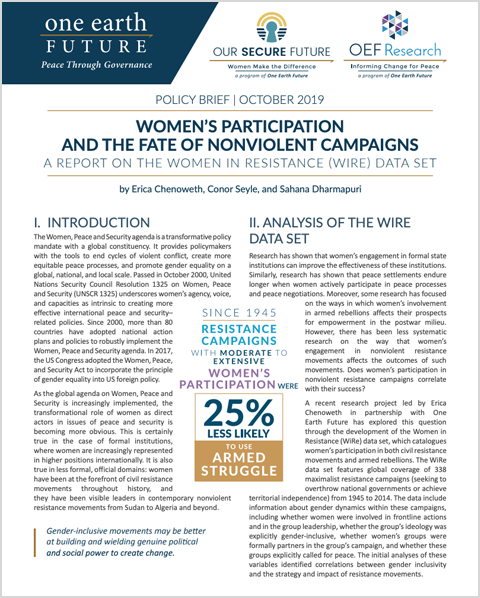 women and nonviolent campaigns policy brief
