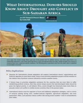 Climate Change and Conflict in Sub-Saharan Africa