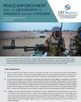 cover of geography of violence against civilians