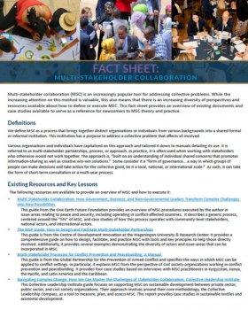 Multi-stakeholder Collaboration Fact Sheet