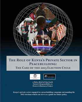 Private Sector Peacebuilding Kenya
