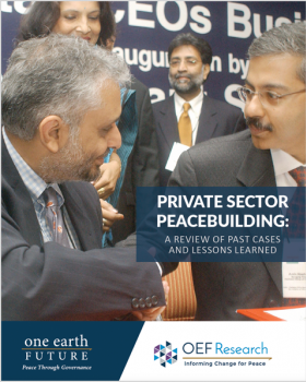Private Sector Peace Building - Political Conflict