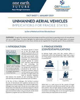 Implications of Unmanned Aerial Vehicles for Fragile States
