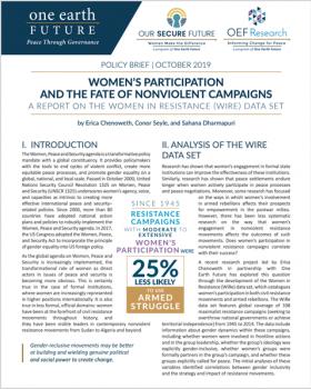 women and nonviolent campaigns policy brief